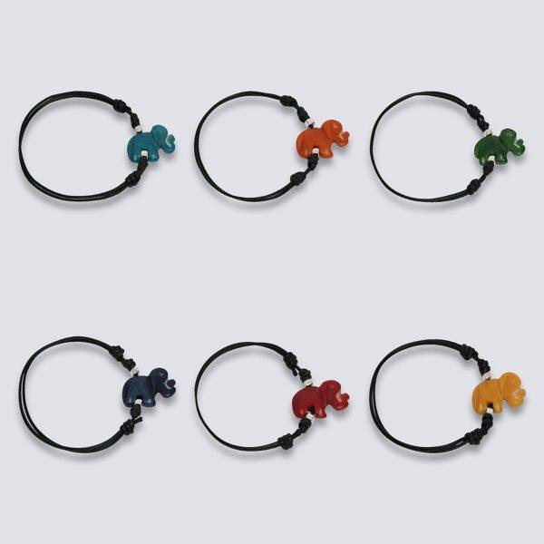Bracciale animaletti Tagua colorata