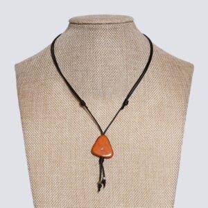 Girocollo fetta Tagua colorata arancione