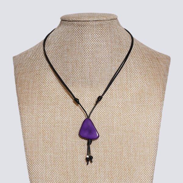 Girocollo fetta Tagua colorata viola