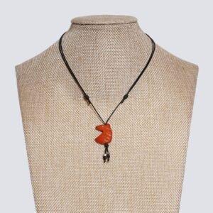 Girocollo animaletti Tagua colorata cavallo arancione