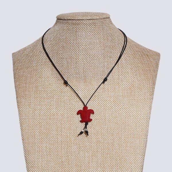 Girocollo animaletti Tagua colorata tartaruga marina rosso