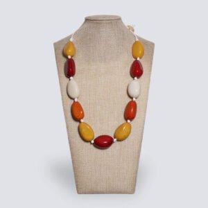 Collana semi di Tagua colorata PRIMAVERA