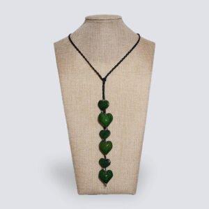 Collana Nodo d'Amore verde