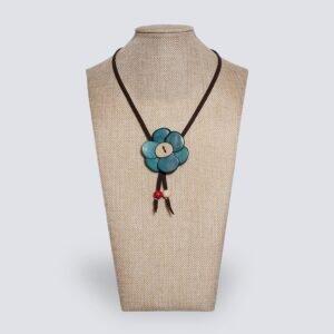 Collana Margherita azzurro
