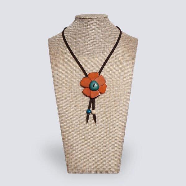 Collana Margherita arancione