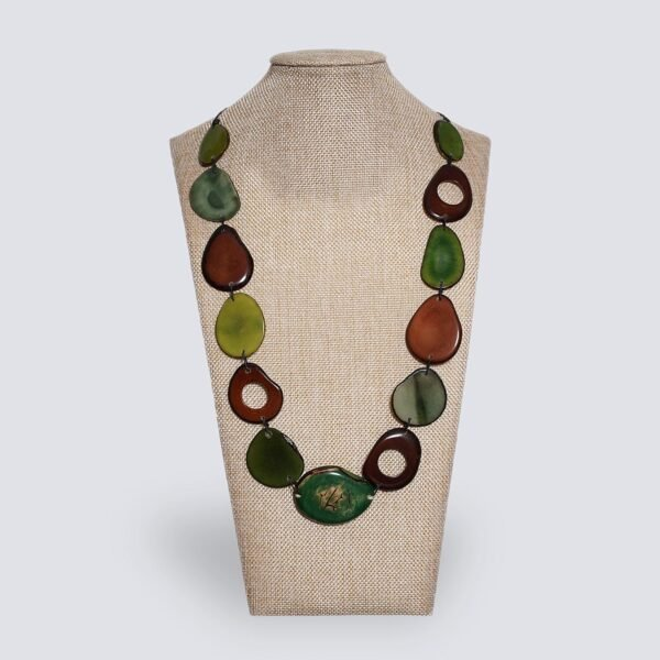Collana Fogliage verde