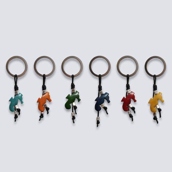 Portachiavi animaletti Tagua colorata